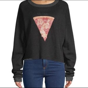 "Wildfox ""My Date"" Pizza Sweater NWT"